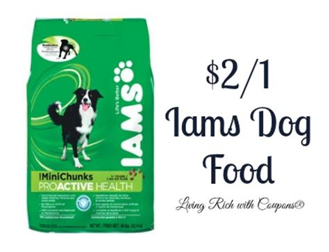 dog food coupons for walmart iams coupon 2 00 off 1 iams dry dog food living rich