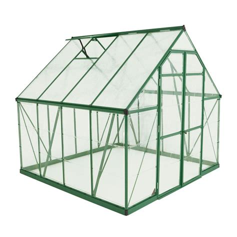 printable greenhouse palram balance 8 ft x 8 ft green polycarbonate