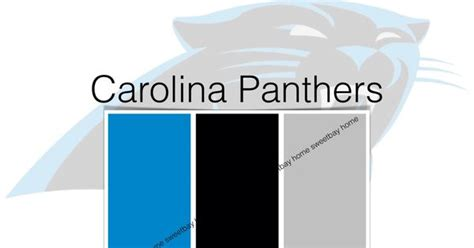 carolina panthers official colors interior paint palette color card carolina panthers by