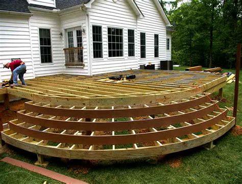 wood deck plans  home design ideas