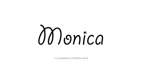 monica name tattoo designs
