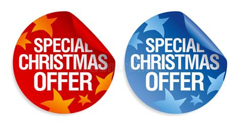 christmas special offers special offer stickers stock vector image 28018045