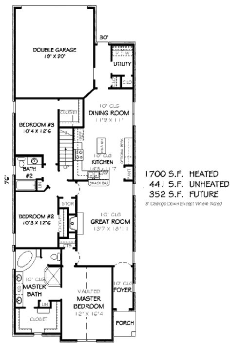 1700 square feet european style house plan 3 beds 2 baths 1700 sq ft plan