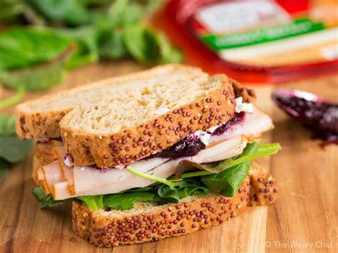 Sandwich T turkey sandwich with goat cheese and jam the weary chef