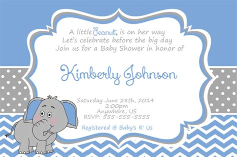 Elephant Baby Boy Shower Invitations by Elephant Baby Boy Shower Invitations Gangcraft Net