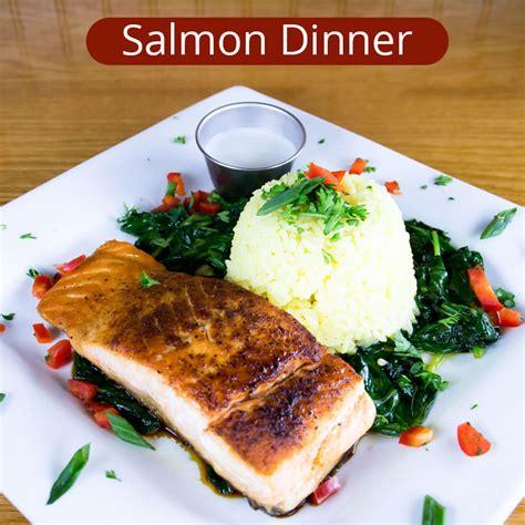 salmon dinner menu cajun seafood galveston menu