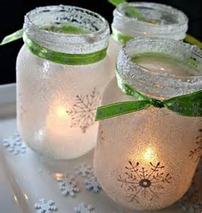 Table Skirt Ideas White Christmas Mason Jar Luminaries