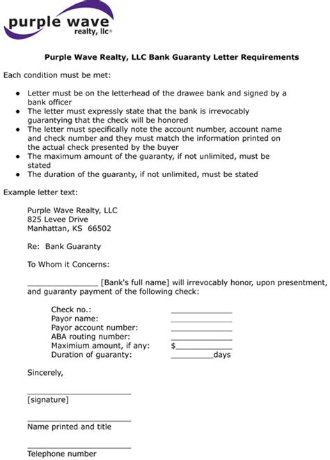 Letter Of Indirect Bank Guarantee Bank Guarantee Format Images Frompo