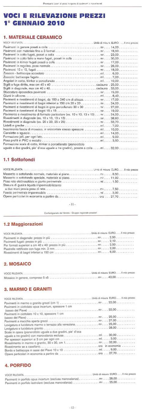 costo piastrellista prezzi posa piastrelle con tabella indicativa