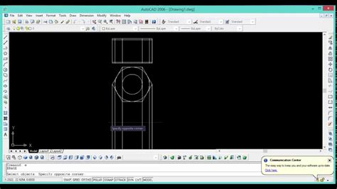 autocad 2007 tutorial youtube how to make a 2d hex nut in autocad 2006 2007 tutorial