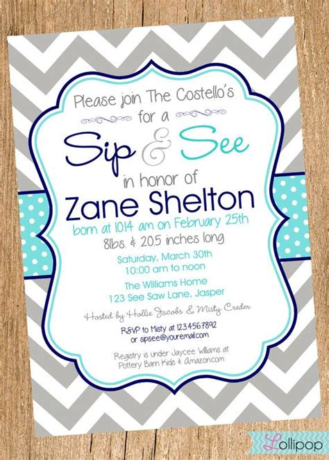 printable invitations on etsy boy sip and see shower printable invitation by lollipopink