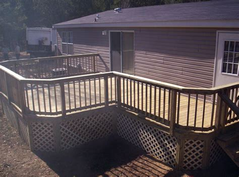 decks for mobile homes decks furnished ideas