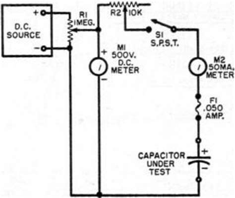 measuring leakage current of capacitor are your electrolytics leaky march 1957 radio television news rf cafe