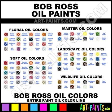 bob ross colors bright landscape paints r6035 bright paint