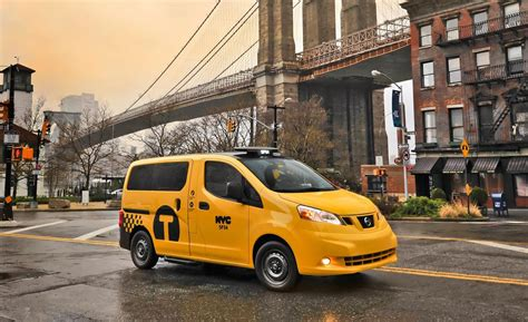 nissan nv200 taxi car and driver