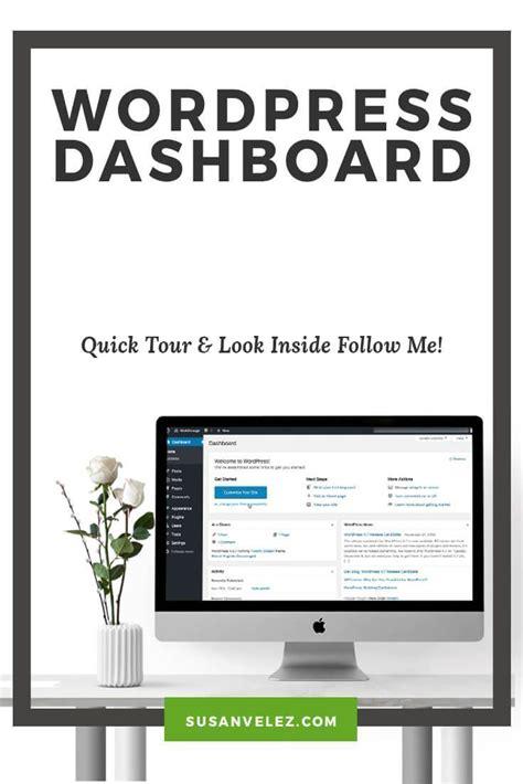 Tutorial Wordpress Dashboard | learn to navigate the wordpress dashboard wordpress