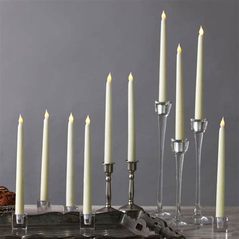 decorative long candles lights lit decor flameless candles taper candles