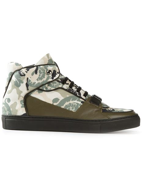 versace sneakers for versace hitop sneakers in green for lyst