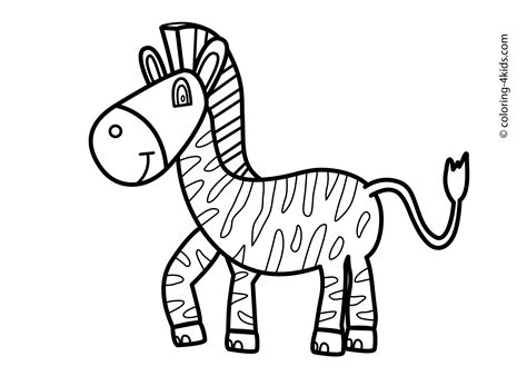 coloring pages animals zebra free printable coloring pages for animals