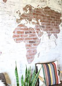 Faux Painting Awesome Ideas Faux Brick Wall World Map