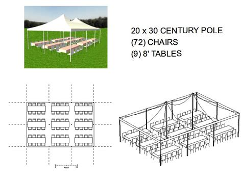 tent layout with banquet tables 20x30 pole tent seats 72 michiana tool and party rental