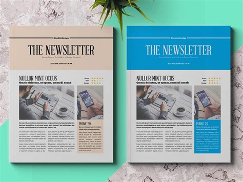 Free Newsletter Templates Indesign business newsletter template adobe indesign templates
