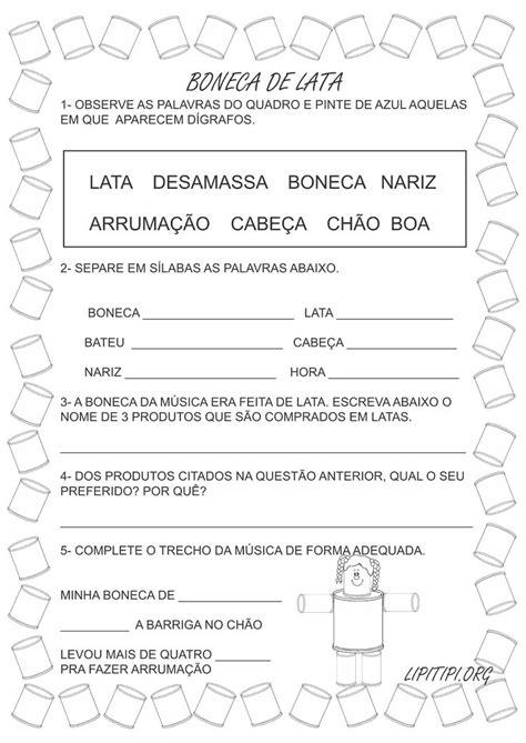 Sugestões de atividades diversas com a música Boneca de