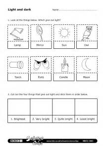 bbc schools science clips light and dark worksheet