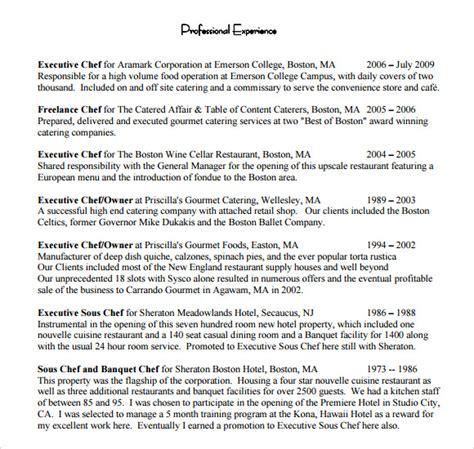 Sample Executive Chef Resume – Chef Resume samples   VisualCV resume samples database