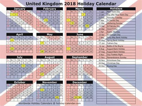 Calendar For Year 2018 United Kingdom United Kingdom 2018 2019 Calendar