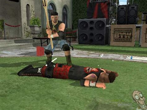 backyard wrestling characters backyard wrestling don t try this at home original xbox game profile xboxaddict com