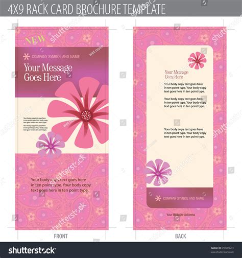 card brochure templates 4x9 rack card brochure template includes cropmarks