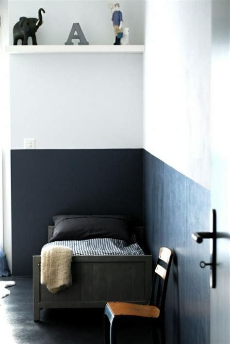 wall paint that doesn t get dirty two tone wall boys can get the blue wall they want