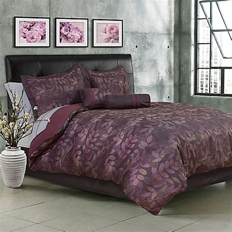 twilight 7 piece comforter set in purple bed bath beyond