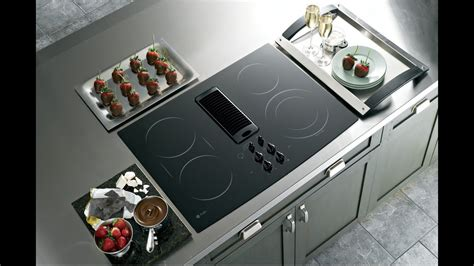cooktops with downdrafts goedeker s ge pp989dnbb profile series electric