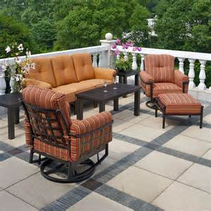 Family Leisure Patio Furniture by Stratford Estate Deep Seating Collection By Hanamint