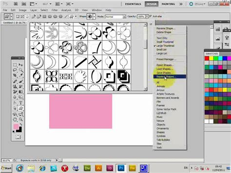 photoshop patterns install cs5 create photoshop patterns from custom shapes curved
