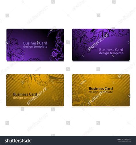 card stock design templates business card design templates set of four designs stock
