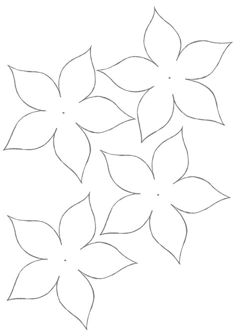 printable paper flower templates flower template for children s activities activity shelter