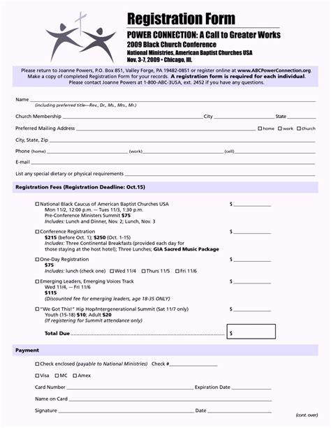 unique registration form template word template design