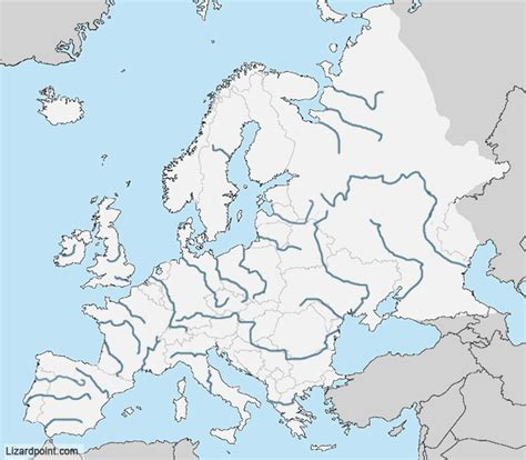 test  geography knowledge europe rivers level