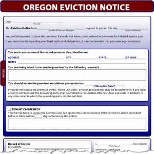oregon eviction notice