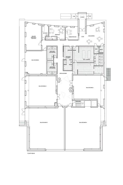dance studio floor plans gallery of dance school in oleiros naos arquitectura