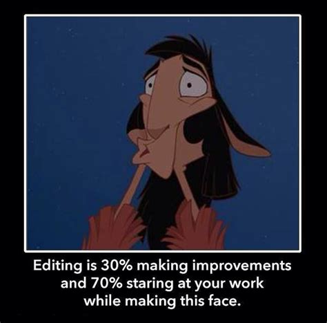 Meme Editing - guest post from rhonda eudaly writing is only glamorous