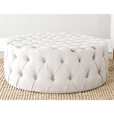 how to make a round tufted ottoman charlene button tufted taupe linen fabric ottoman