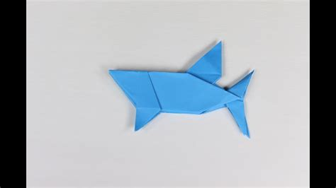 How To Make A Paper Shark Easy - origami shark how to make a paper origami shark cool