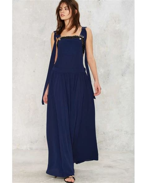 Overall Maxi gal stay overall maxi dress in blue save 40 lyst