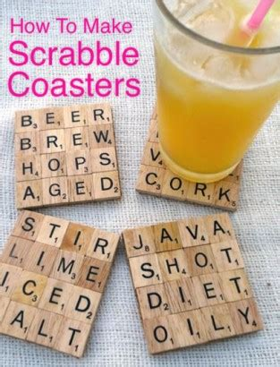 scrabble for dummies how to make scrabble coasters homestead survival