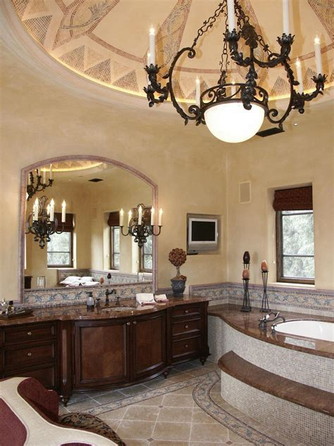Unique Idea Barbara Tuscan Villa Master Bathroom Decosee Com Tuscan Bathroom Design