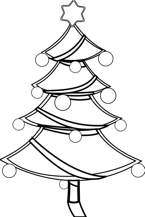 187 Benbois Christmas Tree Xmas Coloring Book Colouring Black And White Tree Coloring Page